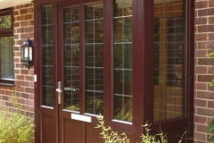 Entrance-door-and-porch-in-Mahogany